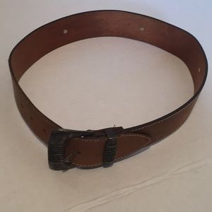 Banana Republic Waxed Leather Women Belt- 30/75